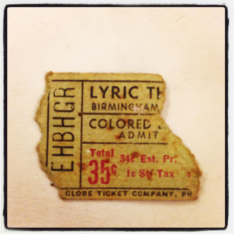 Torn Lyric Ticket Stub