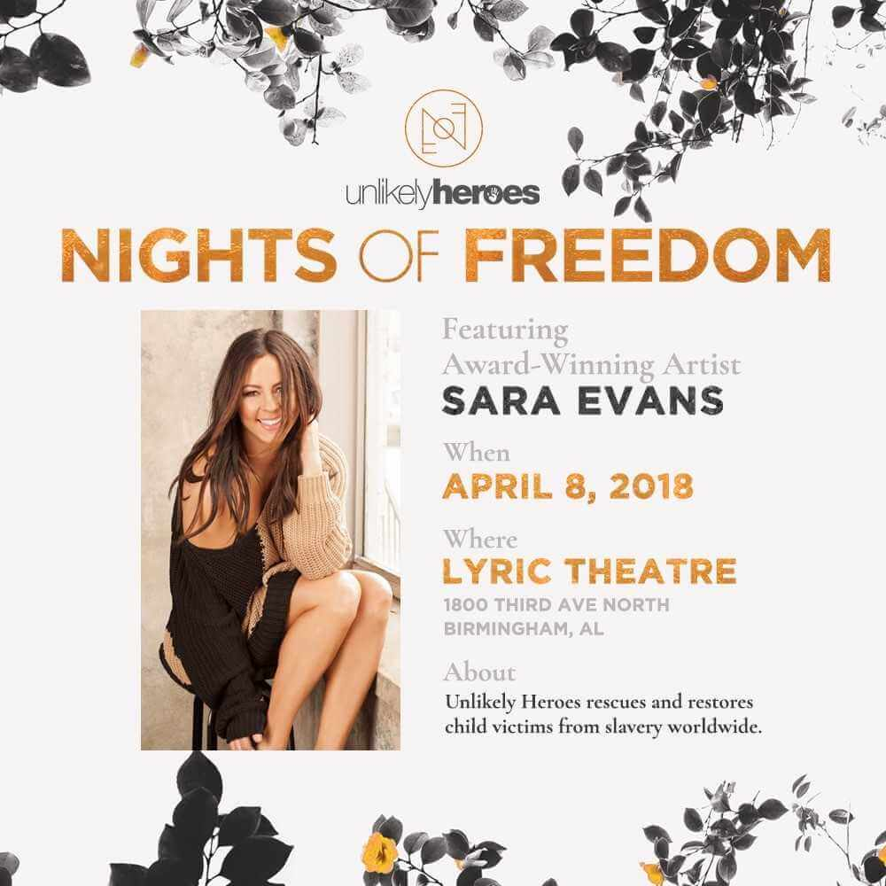 Nights of freedom featuring sara evans the lyric theatre nights of freedom stopboris Images